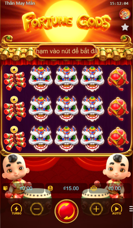 Giao diện trong Game Thần may mắn - Fortune Gods