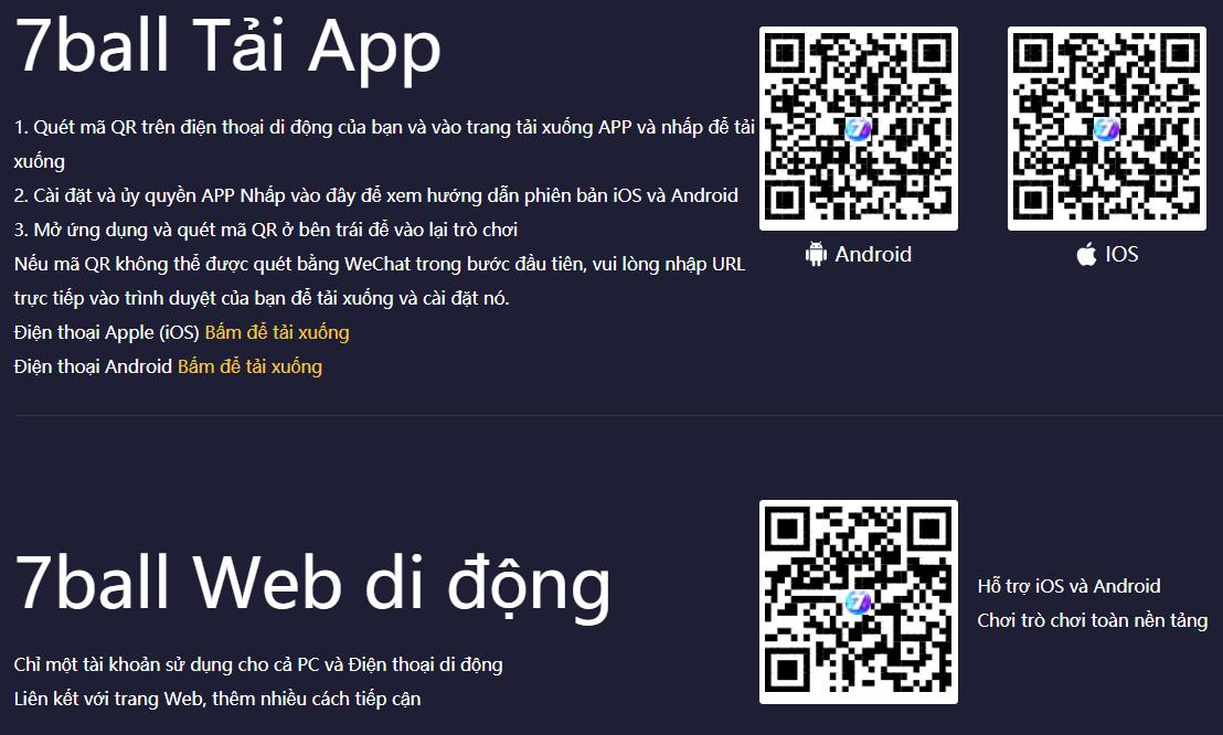 Hướng dẫn Tải App 7ballBET